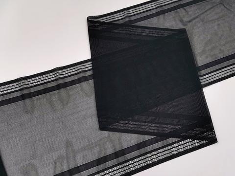 Эластичная сеточка с окантовкой, 21,5 см, черная, м, (Арт: EK-2401), м