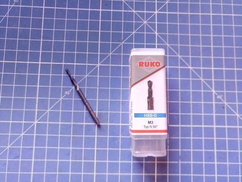 Сверло-зенкер по металлу короткий Ruko HSS VAP 90° M 3 2,5/3,4х8,8мм S=3,4мм 102632