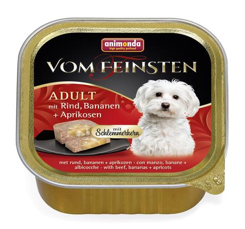 Консервы Animonda Vom Feinsten Adult Меню для гурманов с говядиной, бананом и абрикосами для взрослых привередливых собак