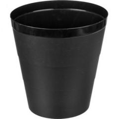 Корзина для мусора 14 л пластик черная (29х30 см)