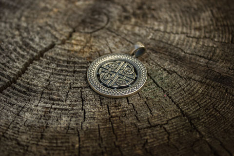 серебряный оберег Кельтский Щит