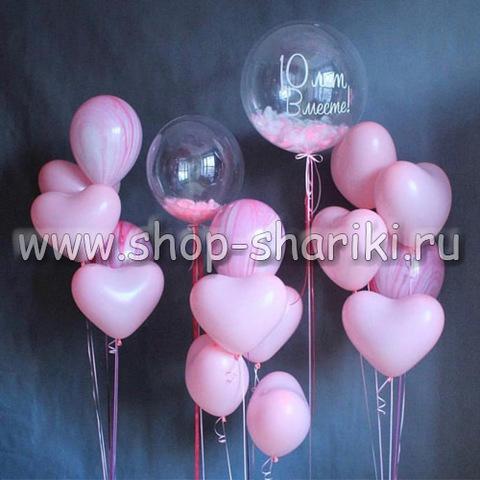 10 лет вместе - композиция из воздушных шаров