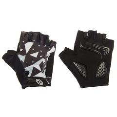 Велоперчатки JAFFSON SCG 46-0384 (чёрный/белый/серый)