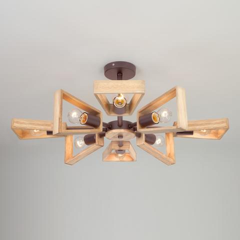 Потолочная люстра в стиле лофт 70056/8 кофе