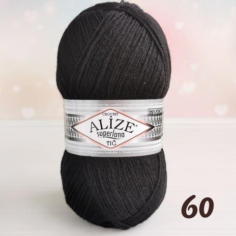 ALIZE SUPERLANA TIG 60, Черный