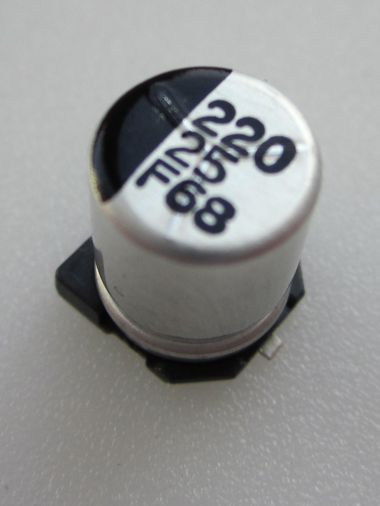 220,0x25V smd
