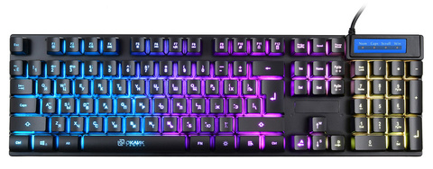 Клавиатура Оклик 760G GENESIS черный USB for gamer LED