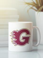 Кружка с рисунком НХЛ Калгари Флэймз (NHL Calgary Flames) белая 002