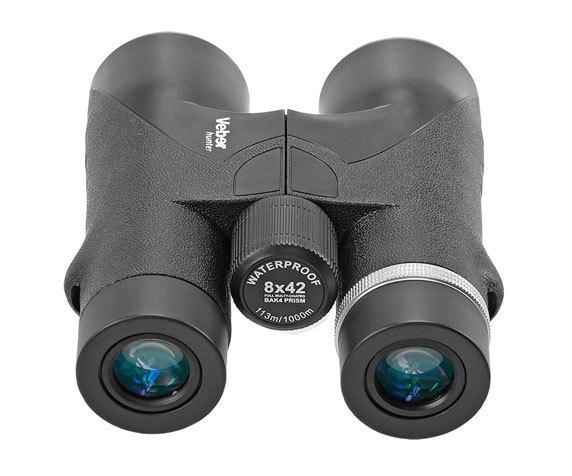 Окуляры с резиновыми наглазниками Hunter 8x42 черный