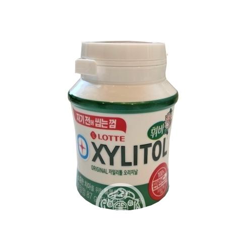 Жевательная резинка Xylitole Original с ароматом Яблочной мяты 87г Lotte Корея