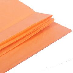 Бумага тишью, светло-оранжевая, 76 Х 50 см, 10 листов 28 г/м