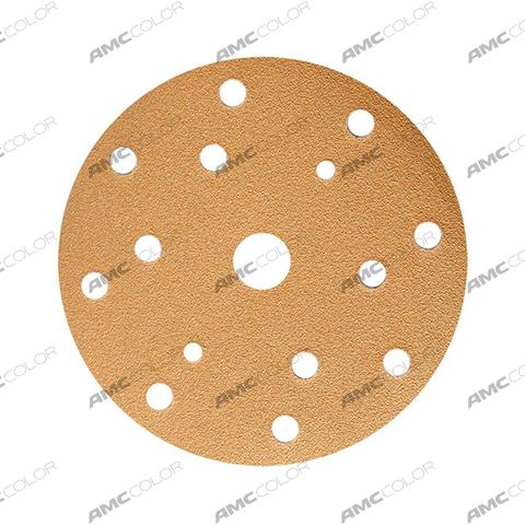 3M™ Круг 255P+ Hookit™ абразивный, золотой, 15 отвер, Р180, 150мм