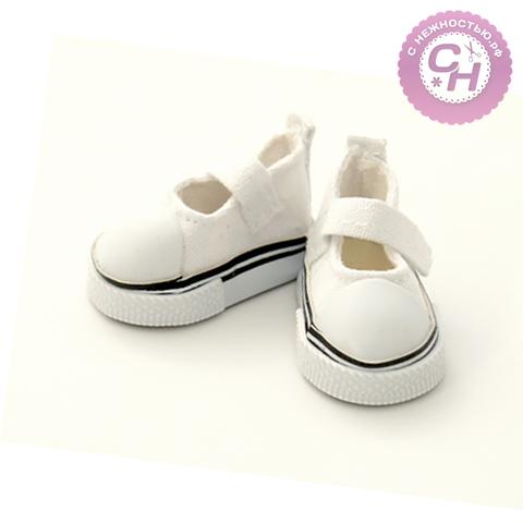 Обувь для кукол, кеды-туфли на липучке, 5 см по подошве, 1 пара.