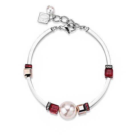 Браслет Coeur de Lion 4803/30-0321 цвет белый, красный