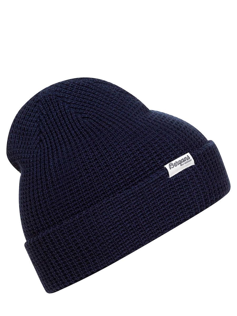 Bergans шапка 7731 Waffle Knit Beanie Navy - Фото 1