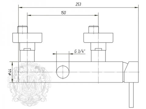 Смеситель для душевой колонны  Migliore Fortis ML.FRT-5436 схема