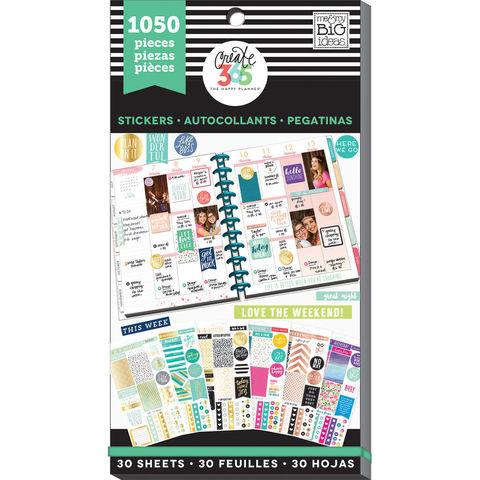 Блокнот со стикерами для ежедневника Create 365 Happy Planner Sticker Value Pack- This Colorful Life, 1050 шт