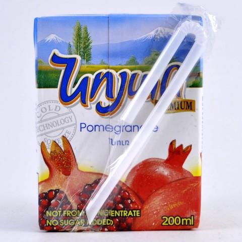 Сок гранатовый прямого отжима без сахара Noyan, 200мл
