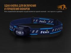 Купить фонарь светодиодный налобный Fenix HL16 синий, 70 лм, 1-АА