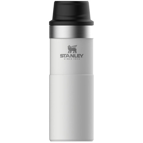 Термокружка Stanley The Trigger-Action Travel Mug (10-06439-032) 0.47л белая