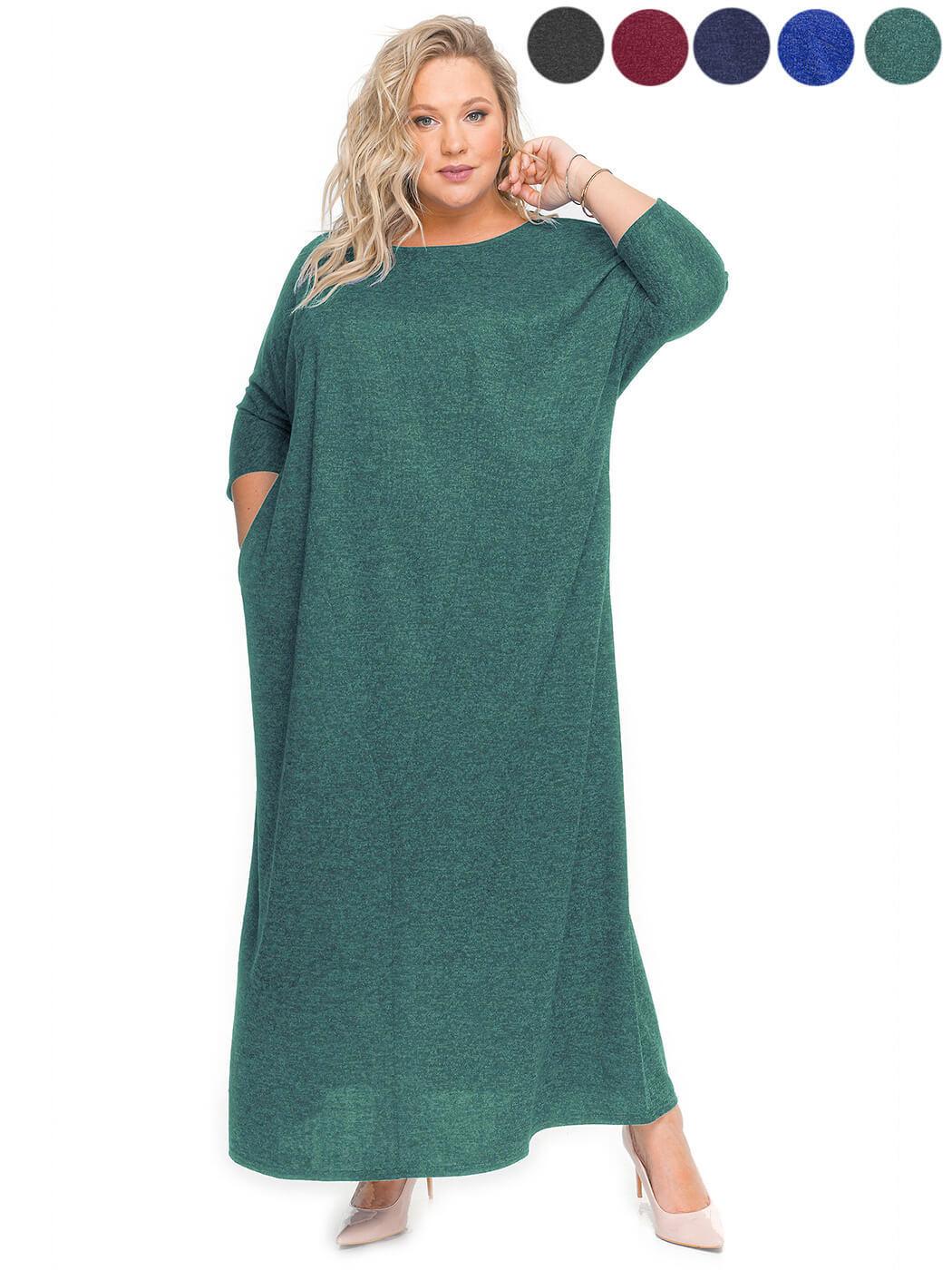 Свободное платье из меланжа