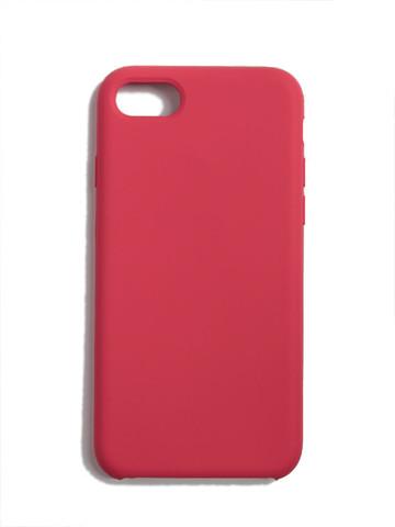 Чехол для iPhone 7/8/SE Софт тач мягкий эффект | микрофибра малиновый