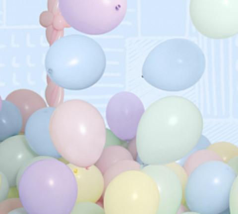 Ассорти шаров в нежных пастельных тонах макарунс, 30 см