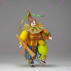 Ёлочная игрушка танцующий клоун