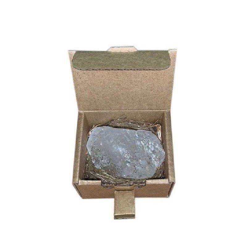 Дезодорант-кристалл Алунит нешлифованный в коробочке