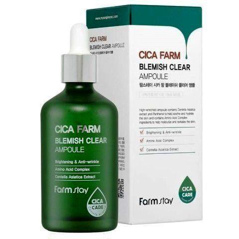 FarmStay Cica Farm Blemish Clear Ampoule высокоактивная ампульная сыворотка с центеллой азиатской против несовершенств кожи
