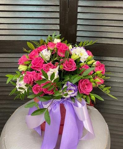 Цветы в шляпной коробке #1690