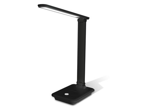 Светодиодная настольная лампа с диммером DE503 BK черный LED 3000-6400K 9W