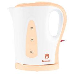 Чайник электрический 1,0л ВАСИЛИСА Т20-1200 белый с персиковым