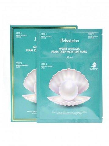 Трёхэтапный увлажняющий набор с жемчугом JMsolution Marine Luminous Pearl Deep Moisture Mask