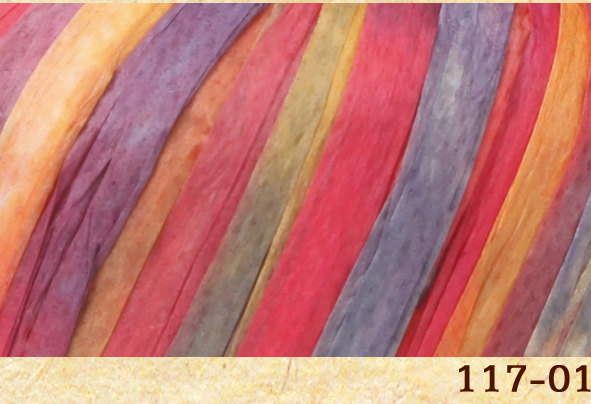 Пряжа Fibra Natura Raffia multi 117-01 шапито