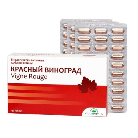 Красный виноград 90 капсул по 340 мг | Villaphyta