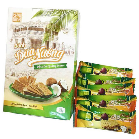 Кокосовые крекеры Thai Binh - Коробка 20х230 гр.