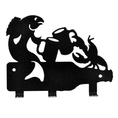 Вешалка металлическая 3 крючка «Рак и щука» 13,5х10,5 см
