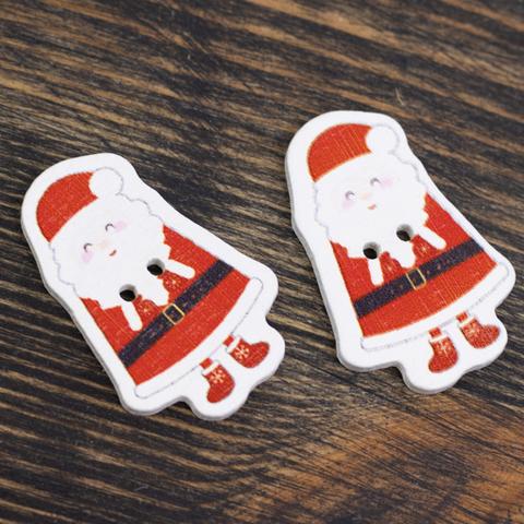"Новогодний декор пришивной ""Дед мороз 2шт."""
