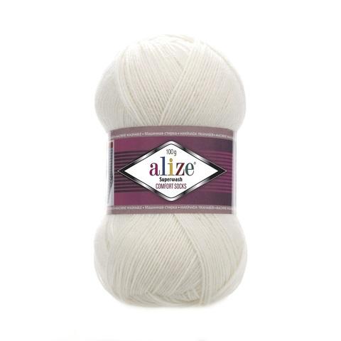 Пряжа Alize SuperWash Comfort Socks цвет 0001