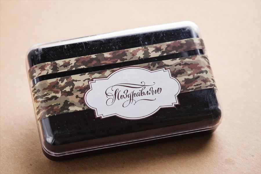 Этиклейка на упаковку для мыла Камуфляж