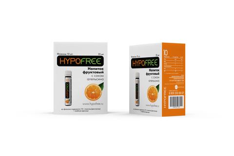 Напиток с соком,  фруктовый  ГипоФри по 1ХЕ (10 флаконов/упак)