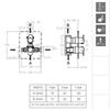 Встраиваемый термостатический смеситель для душа ALEXIA 368712SNM черный, на 2 выхода - фото №2