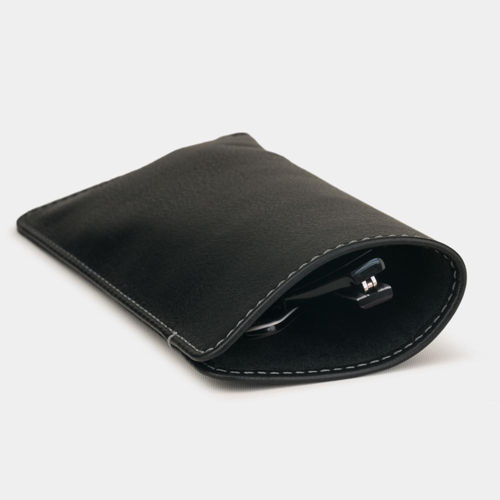 Футляр для очков Lunette Easy из натуральной кожи теленка, черного цвета