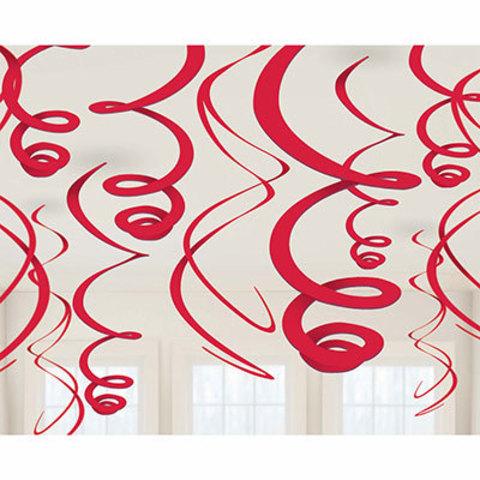 Спирали красные, 46-60 см, 12 штук