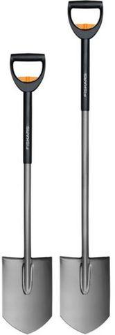 Лопата Fiskars SmartFit телескопическая штыковая, 105-125 см