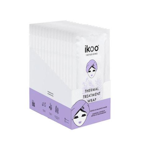 Термальная шапка-маска ikoo Thermal Treatment Wrap – Детокс и баланс (display fulfilled with 15 sachets) |