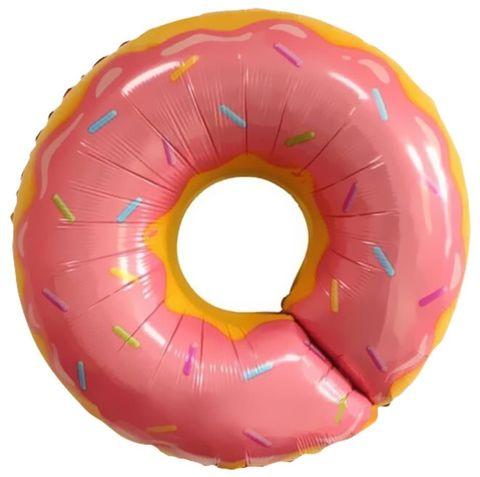 Воздушный шар фигуры Пончик розовый, 69 см