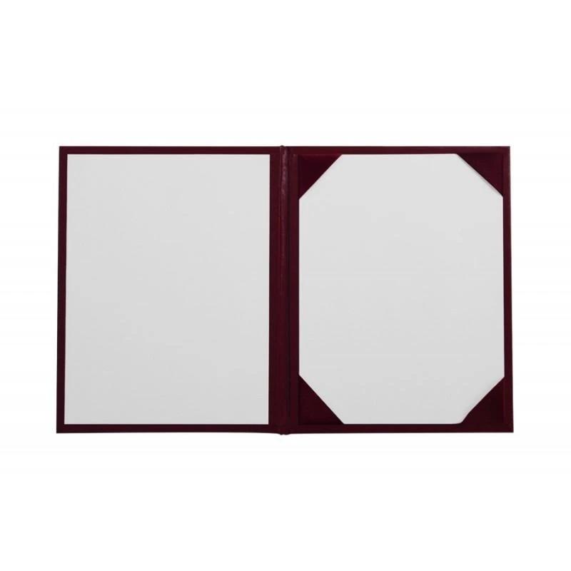 Папка обложка «Классик»  для диплома (Бордовая)