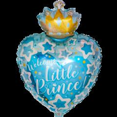 Сердце, С Днем Рождения, Маленький Принц, Голубой,19''/48 см, CTI, 1 шт.